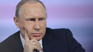 Владимир Путин отвечает на вопросы журналистов во время ежегодной большой пресс-конференции