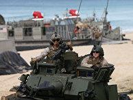 Американские морпехи по время учений НАТО Trident Juncture в Португалии