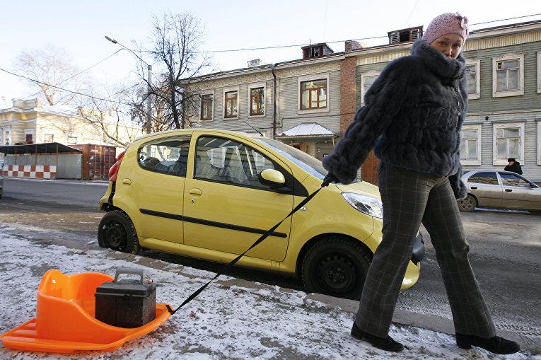 Сильный мороз в Казани