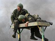 Испытания бойцов спецназа на право ношения крапового берета в Новосибирской области