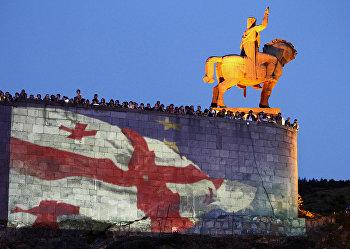 Празднование подписания договора с ЕС в Тбилиси