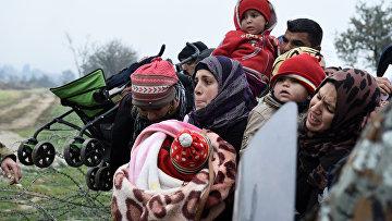 Беженцы на греческо-македонской границе