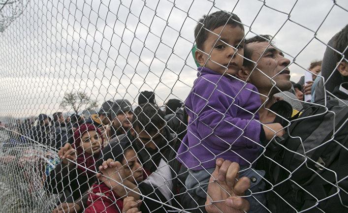 Мигранты на границе Греции и Македонии