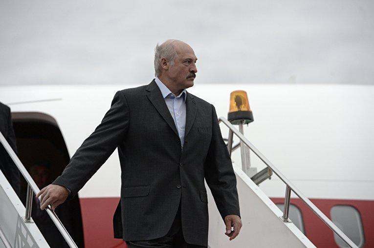 Прилёт в Уфу Президента Республики Белоруссия Александра Лукашенко