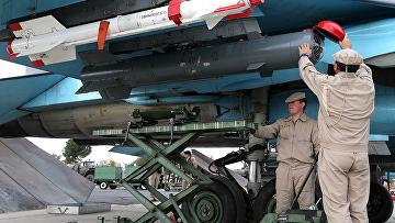 Российские военные на авиабазе «Хмеймим» в Сирии