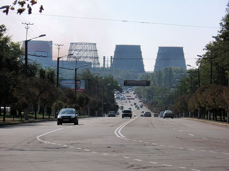 Вид на город Кривой Рог
