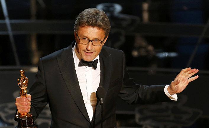 Польский режиссер Павел Павликовский с премией «Оскар» за фильм «Ида»