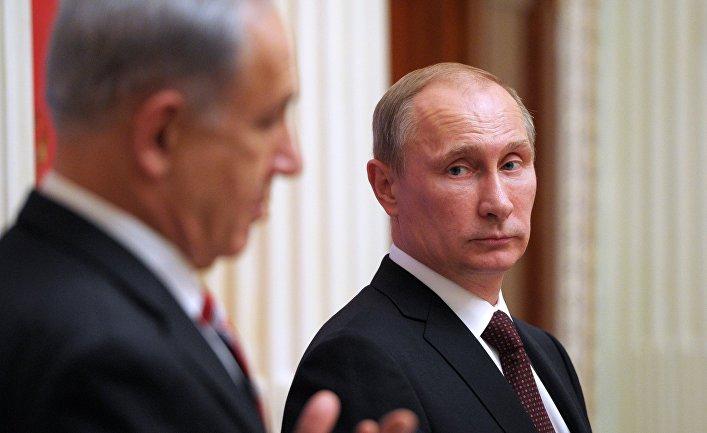 Владимир Путин и Биньямин Нетаньяху во время встречи в Кремле