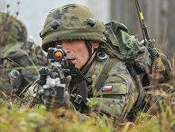 Солдат Чешской республики на учениях Combined Resolve