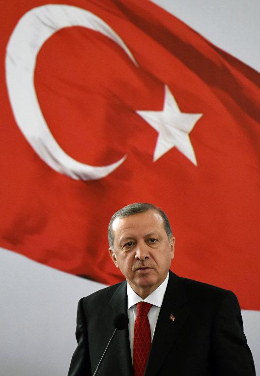 Пресс-конференция президента Турции Тайипа Эрдогана