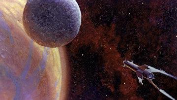"""Рисунок """"Впереди - Марс"""" художника Андрея Соколова"""