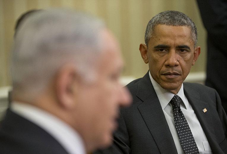 Президент США Барак Обама и премьер-министр Израиля Биньямин Нетаньяху