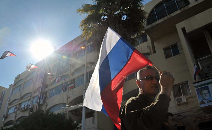 Митинг в поддержку операции российской авиагруппы прошел в городе Тартус
