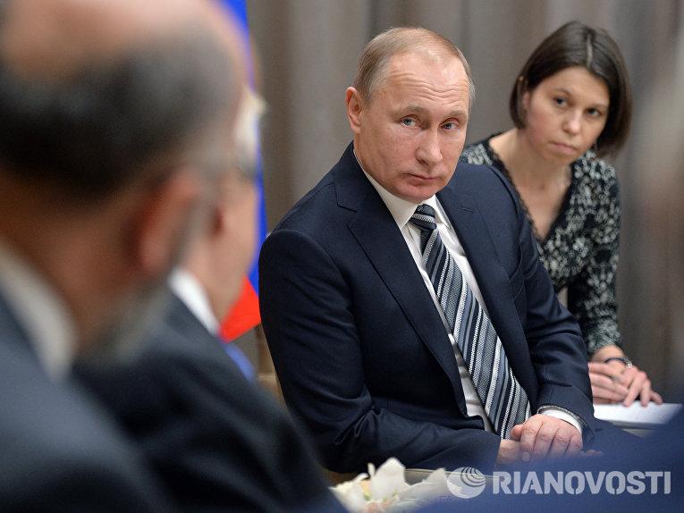 Встреча президента РФ В. Путина с президентом Греции П. Павлопулосом