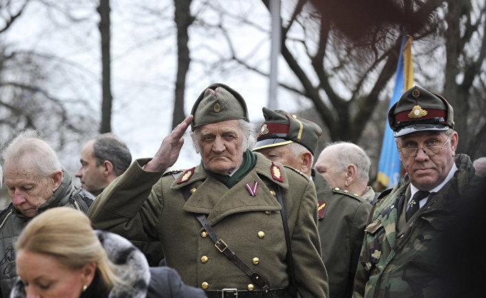 Шествие легионеров СС в Риге