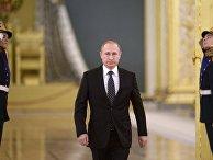 Церемония вручения знамени ВКС России в Кремле