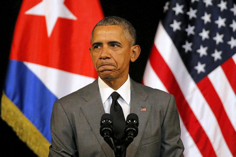 Президент США Барак Обама произносит речь в Гаване