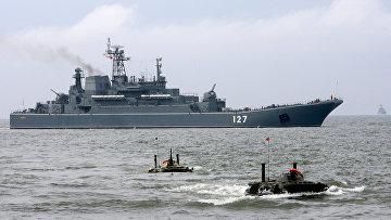 Тренировка по высадке морского и воздушного десанта прошла в Калининградской области