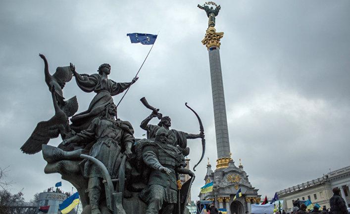 Акция в поддержку евроинтеграции Украины на площади Независимости в Киеве