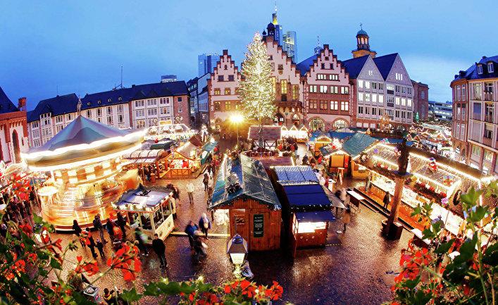 Рождественская ярмарка во Франкфурте, Германия