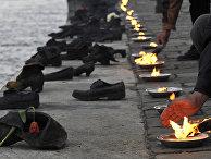 Памятник жертвам Холокоста в Будапеште