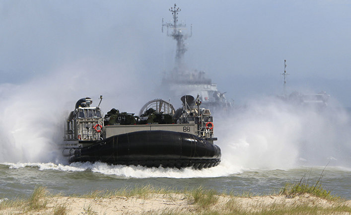 Учения NATO Baltops 2015 в Балтийском море в районе польского города Устка