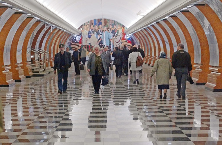Станция метро «Парк Победы» в Москве