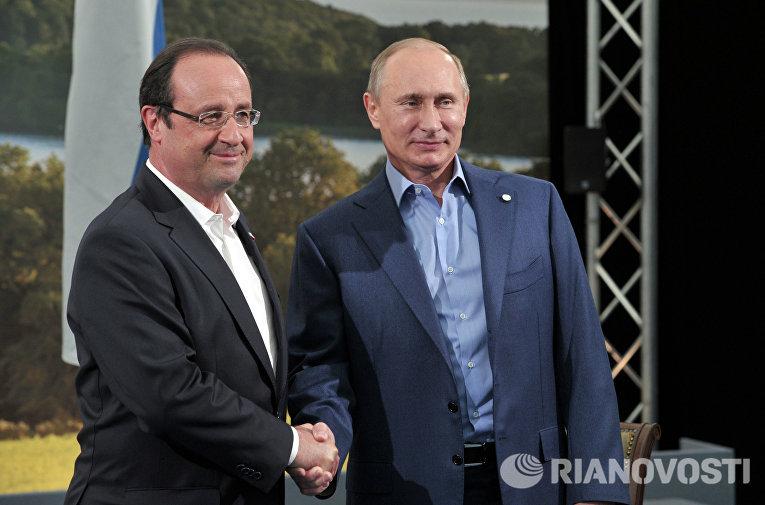 В.Путин встретился с Ф.Олландом перед началом саммита G8