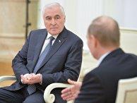 Президент РФ Владимир Путин встретился с президентом Республики Южная Осетия Леонидом Тибиловым
