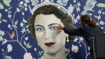 Портрет королевы Великобритании Елизаветы II
