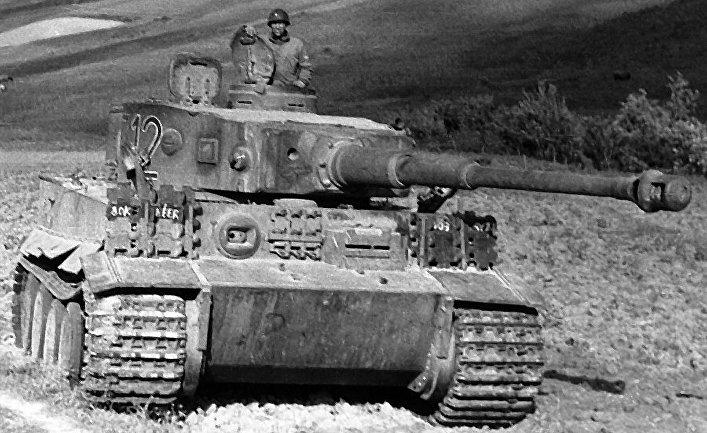 Танк «Тигр» в Тунисе, 1943 год