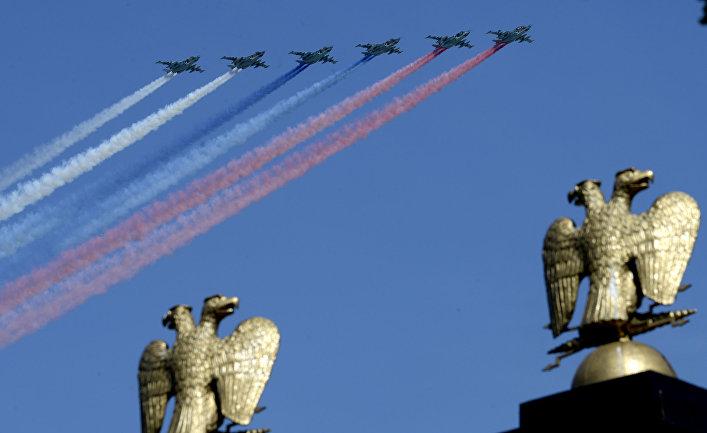 Су-25 во время парада Победы