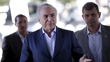 Вице-президент Бразилии Мишель Темер во дворце Планалту