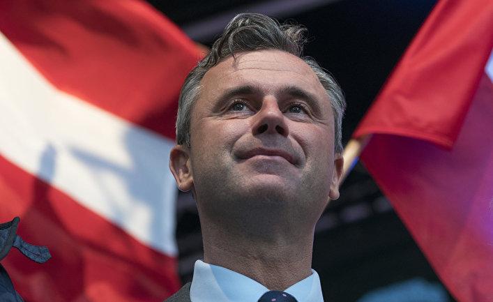 Кандидат от Австрийской партии свободы Норберт Хофер