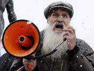 Участник шествия «Русский марш»