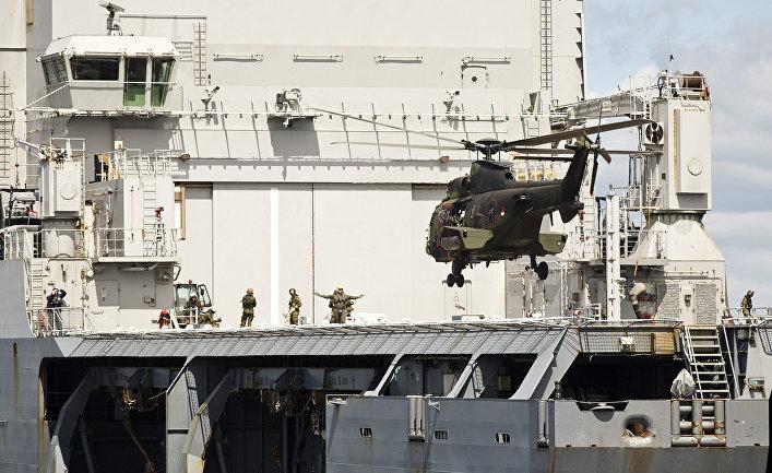 Военные силы Финляндии во время военный учений НАТО Baltops