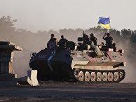 Украинские военные неподалеку от Луганска, август 2014 года