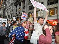 Участники движения «Оккупируй Уолл Стрит»
