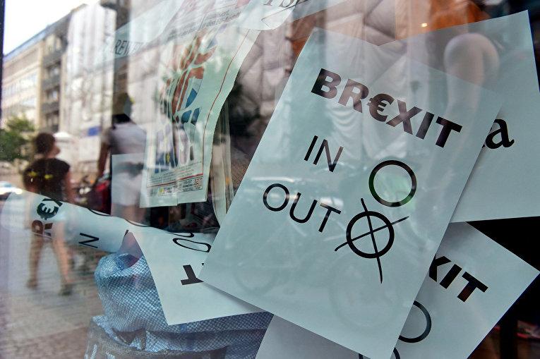 Импровизированные бюллетени на витрине книжного магазина в Берлине