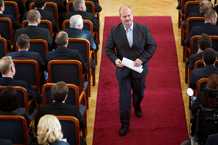 Лидер крайне правой Народной партии «Наша Словакия» Мариан Котлеба