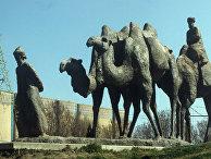"""Скульптурная композиция """"Великий шелковый путь"""""""