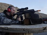 Выстрел из винтовки AR-15