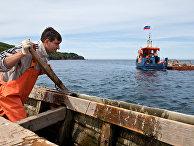 Рыбный промысел на острове Итуруп