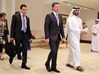 Встреча министра энергетики Российской Федерации Александра Новака с представителями нефтедобывающих стран в Дохе