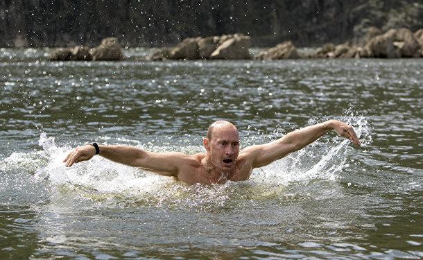 Владимир Путин на отдыхе в Республике Тыва