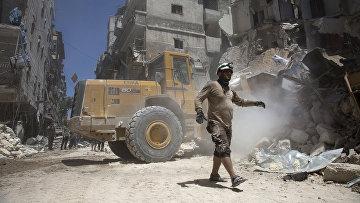 Руины города Алеппо