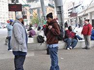 Американцы на улицах Детройта