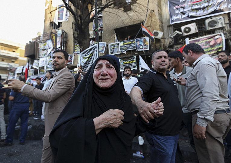 Последствия теракта, совершенного смертником в городе Карада