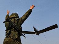Беспилотный летательный аппарат во время учений в Приморском крае