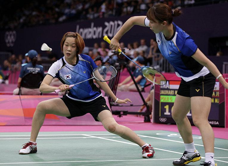 Южно-корейские бадминтонистки на летних Олимпийских играх 2012 в Лондоне